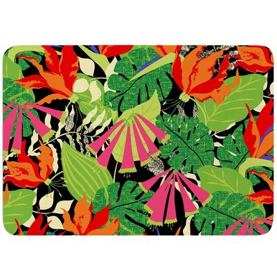 Tropicana - Hot by Jacqueline Milton Memory Foam Bath Mat