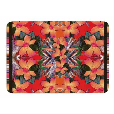 Striped Alohas by Nina May Memory Foam Bath Mat