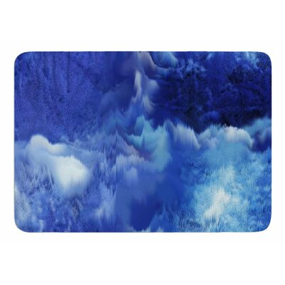 Saltwater Collage by Nina May Memory Foam Bath Mat