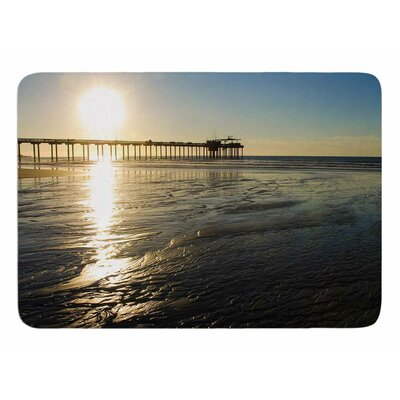Sun Over Scripps Pier by Nick Nareshni Memory Foam Bath Mat