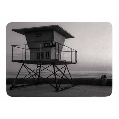 Lifeguard Station at Dusk by Nick Nareshni Memory Foam Bath Mat