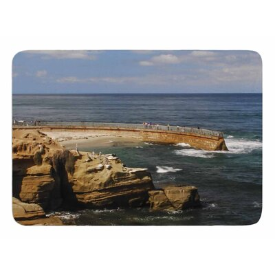 Ocean Jetty by Nick Nareshni Memory Foam Bath Mat