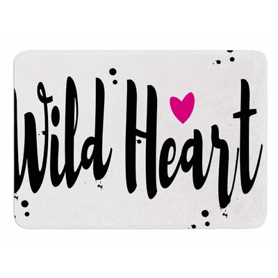 Wild Heart2 by Suzanne Carter Memory Foam Bath Mat
