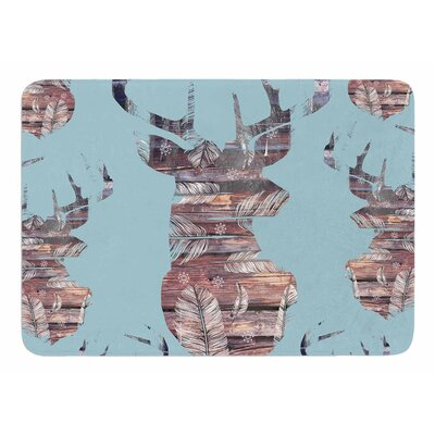 Wild and Free by Suzanne Carter Memory Foam Bath Mat