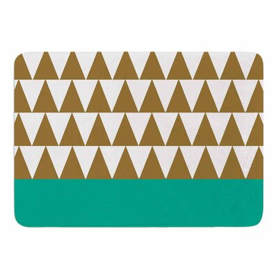Geo Green by Suzanne Carter Memory Foam Bath Mat