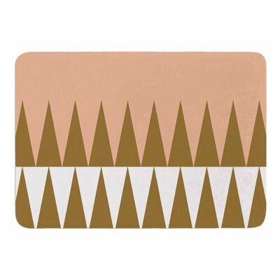 Peach Geo by Suzanne Carter Memory Foam Bath Mat