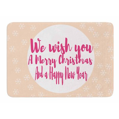 Merry Christmas and Happy New Year by Suzanne Carter Memory Foam Bath Mat