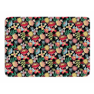 Flower Power by DLKG Design Memory Foam Bath Mat