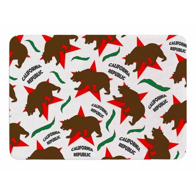 California Pattern by Danny Ivan Memory Foam Bath Mat