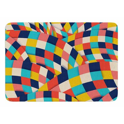 Curved Squares by Danny Ivan Memory Foam Bath Mat