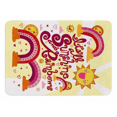 Its all Sunshine & Rainbows by Jane Smith Memory Foam Bath Mat