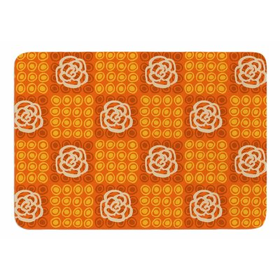 Polka Dot Rose by Jane Smith Memory Foam Bath Mat