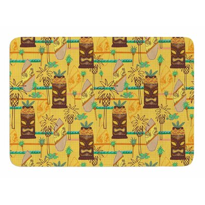 Surfing Tiki by Jane Smith Memory Foam Bath Mat