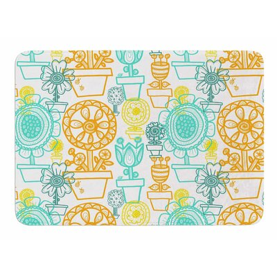 Potted Florals by Jane Smith Memory Foam Bath Mat