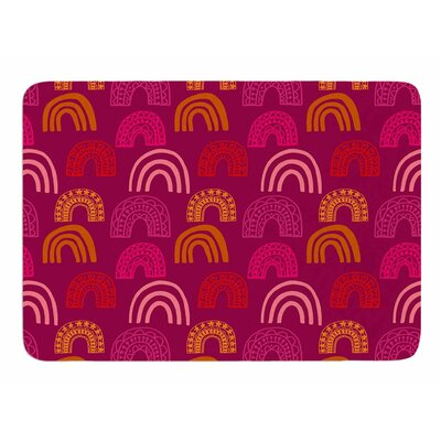 Its all Rainbow by Jane Smith Memory Foam Bath Mat