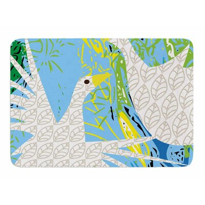 Pond Birds by Patternmuse Memory Foam Bath Mat