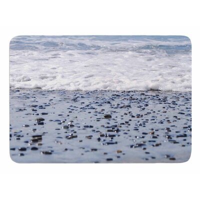 Solana Beach Sand Stones by Nick Nareshni Memory Foam Bath Mat