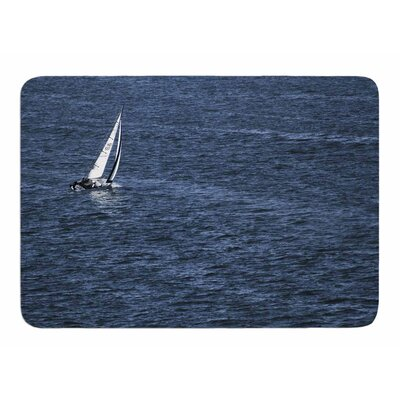 Boat on the Ocean by Nick Nareshni Memory Foam Bath Mat