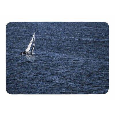 Boat on the Ocean by Nick Nareshni Memory Foam Bath Mat