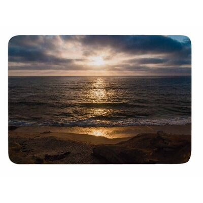 La Jolla Sunset on Beach by Nick Nareshni Memory Foam Bath Mat
