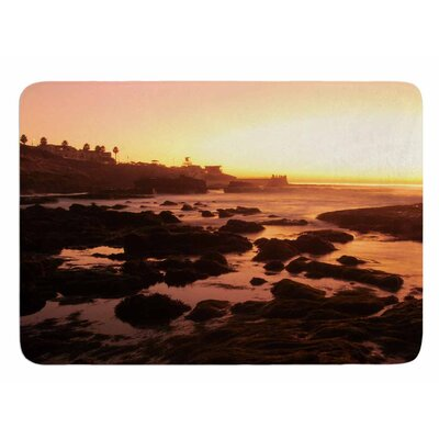 Rocks of La Jolla Sunset by Nick Nareshni Memory Foam Bath Mat