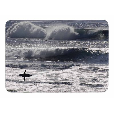 Lone Surfer by Nick Nareshni Memory Foam Bath Mat