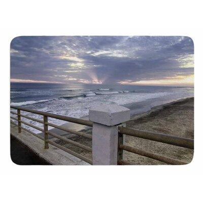 Oceanside Pier at Sunset by Nick Nareshni Memory Foam Bath Mat