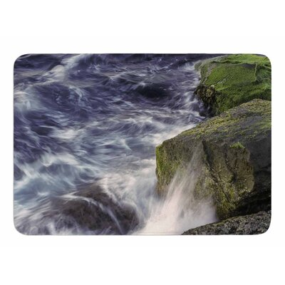 Wave Against La Jolla Rocks by Nick Nareshni Memory Foam Bath Mat