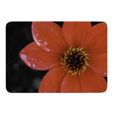 Wet Flower Petals by Nick Nareshni Memory Foam Bath Mat