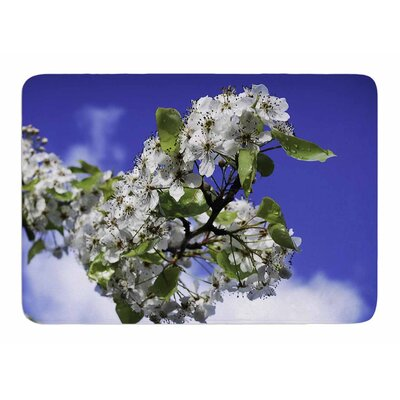 Cherry Blossoms and Sky by Nick Nareshni Memory Foam Bath Mat