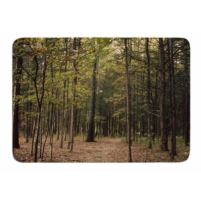 Forest Trees by Sylvia Comes Memory Foam Bath Mat