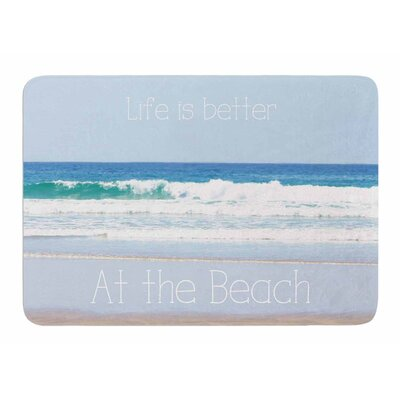 Life is Better at the Beach by Sylvia Comes Memory Foam Bath Mat