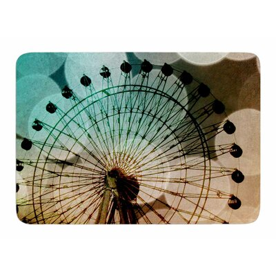 Ferris Wheel Silhouette by Sylvia Comes Memory Foam Bath Mat
