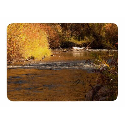 Autumn Stream by Sylvia Comes Memory Foam Bath Mat