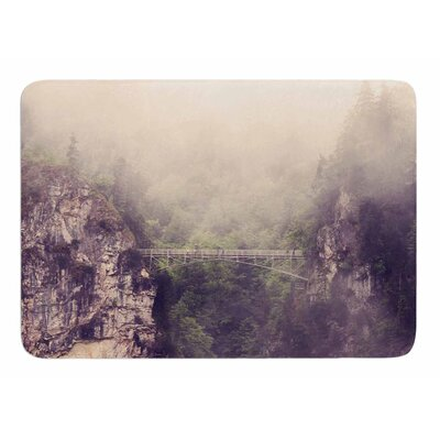 Foggy Mountain Landscape by Sylvia Comes Memory Foam Bath Mat