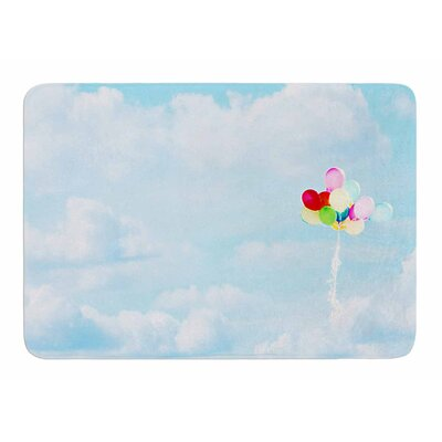 Balloons in the Sky by Sylvia Comes Memory Foam Bath Mat