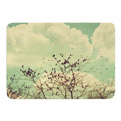 Birds of a Feather by Sylvia Comes Memory Foam Bath Mat