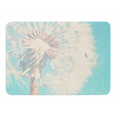 Aqua Dandelion by Sylvia Comes Memory Foam Bath Mat