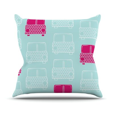 Beep Beep Outdoor Throw Pillow