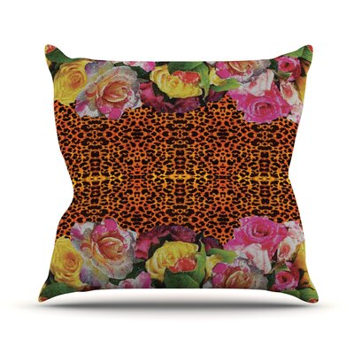 New Rose Eleo Outdoor Throw Pillow
