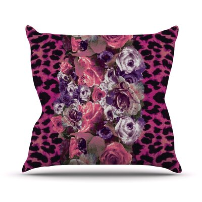 Rose Stripe Outdoor Throw Pillow