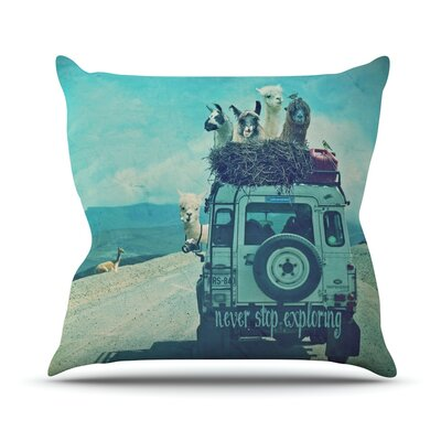 Never Stop Exploring III Outdoor Throw Pillow