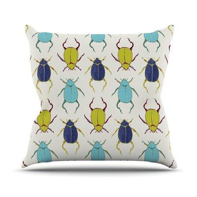 Beetles Outdoor Throw Pillow