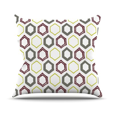 Hexy Small Outdoor Throw Pillow
