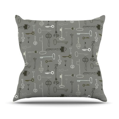 Keys Outdoor Throw Pillow Color: Gray