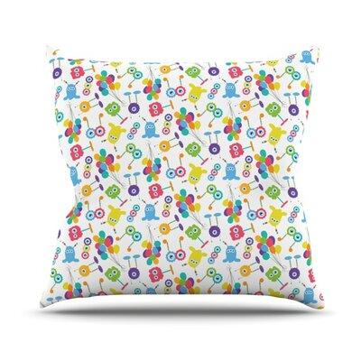 Fun Creatures Outdoor Throw Pillow