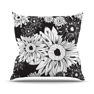 Midnight Florals Outdoor Throw Pillow
