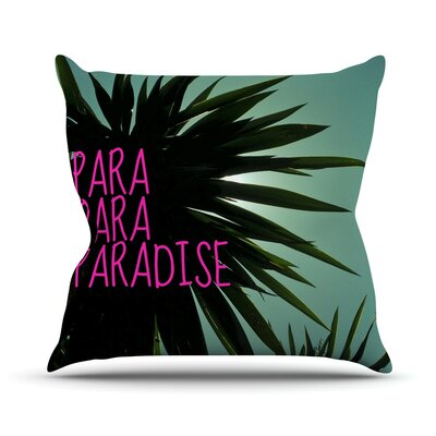 Exotic Paradise Chevron Outdoor Throw Pillow