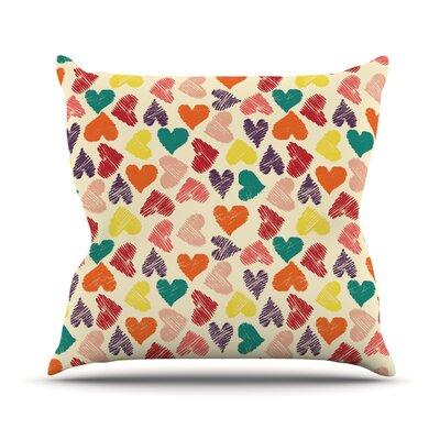 Little Hearts Outdoor Throw Pillow