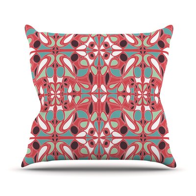 Stained Glass Outdoor Throw Pillow